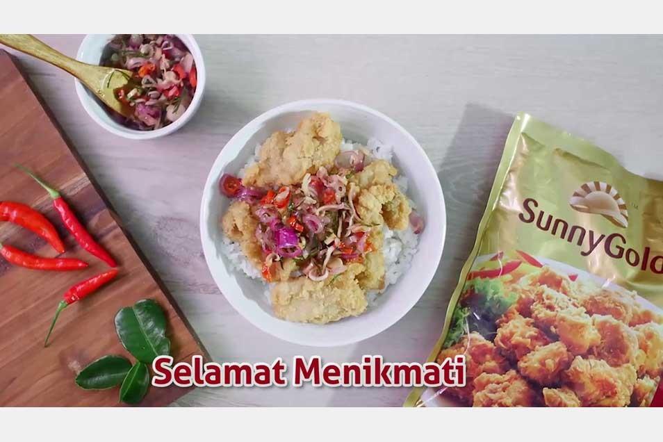 Karaage Rice Bowl Sambal Matah