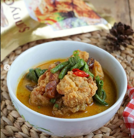 Gulai Chicken Karage Kurma By :@ninazeidien