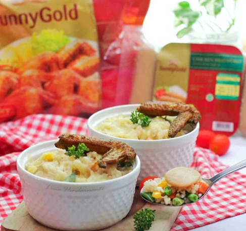 Special Vegie Baked Rice With Duo Sunny Gold By @linadimasputri